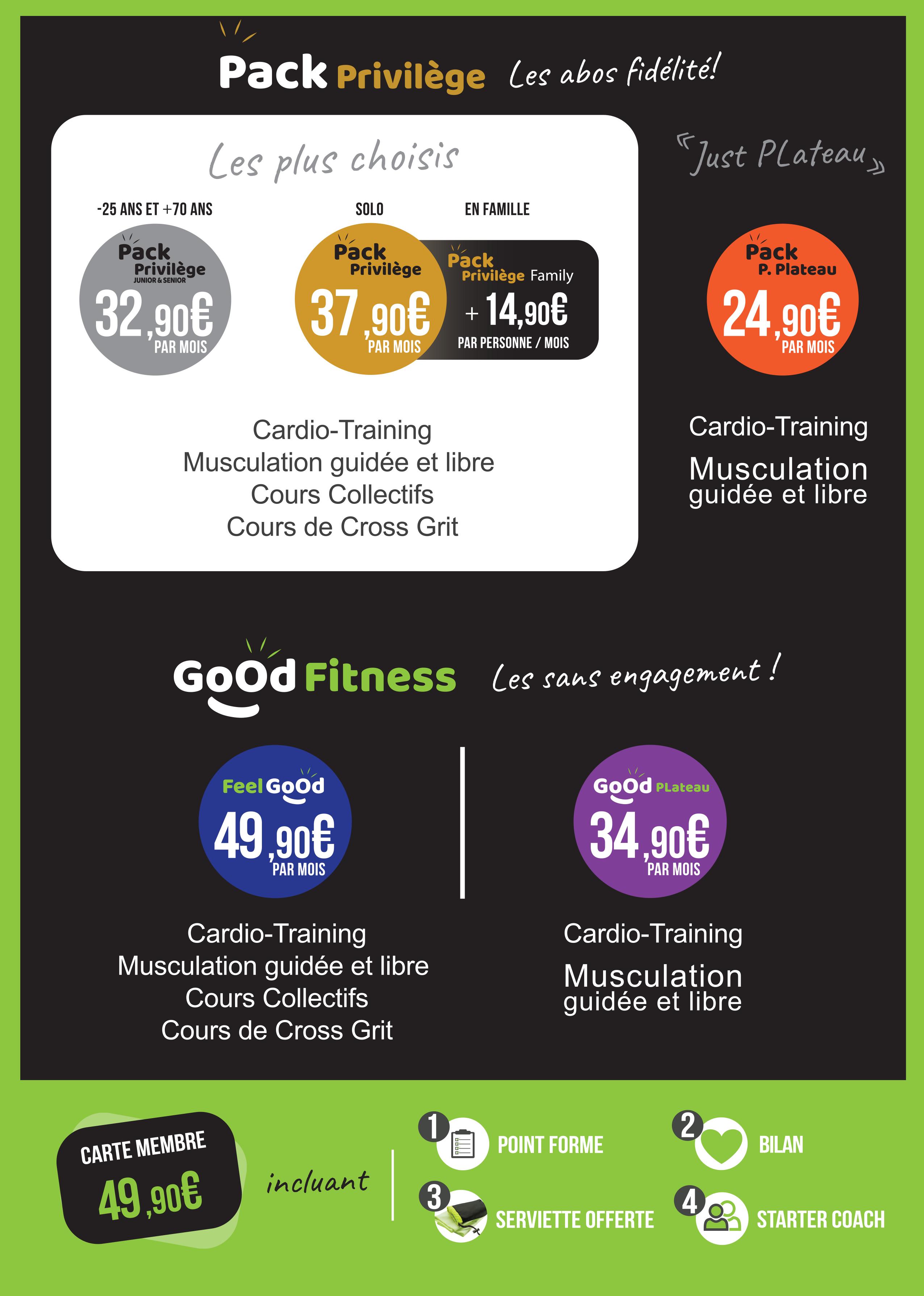 Nouveau Tarif Fitness info pratique